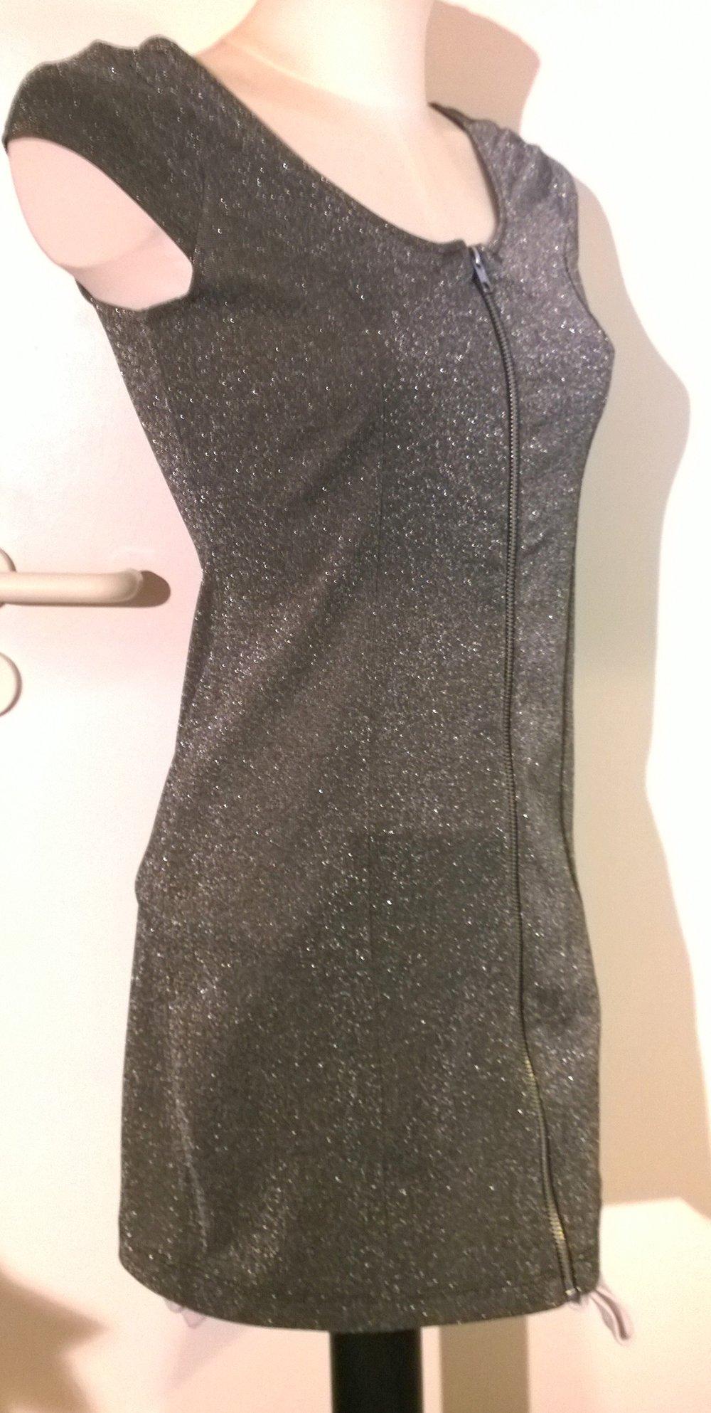 Partykleid, Glitzer, silber, sexy,H&M,Gr.38 :: Kleiderkorb.de