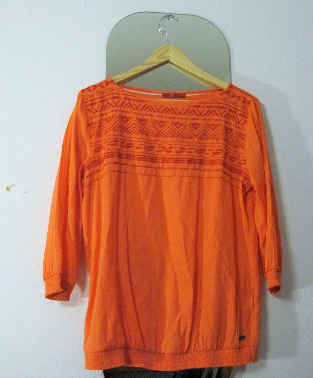 bluse esprit ethno azteken muster orange rot 3 4 rmelig. Black Bedroom Furniture Sets. Home Design Ideas