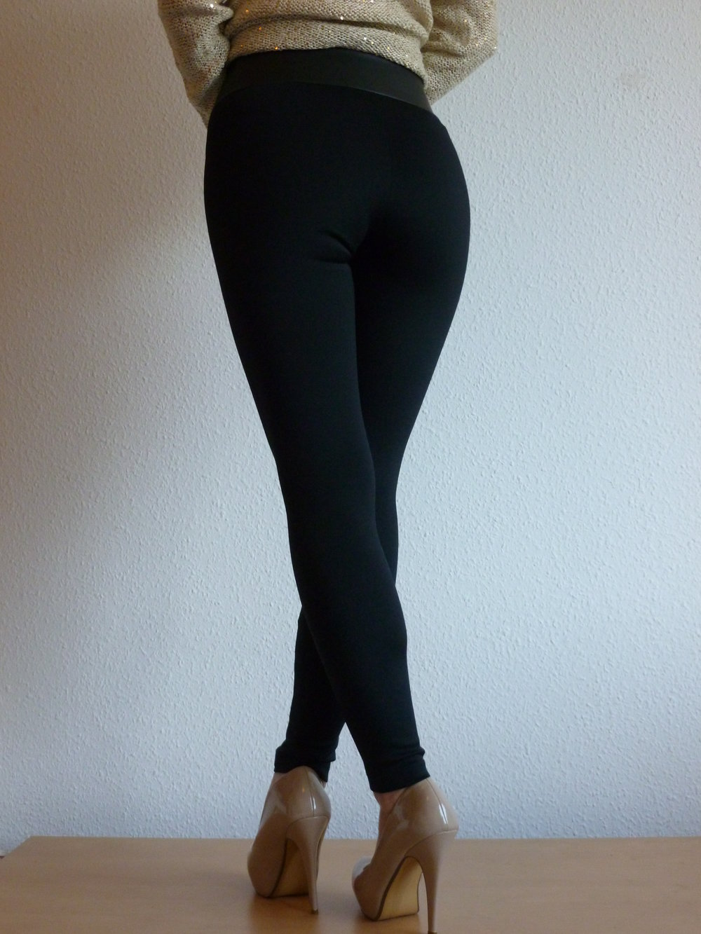 h m high waist leggings hose xs. Black Bedroom Furniture Sets. Home Design Ideas