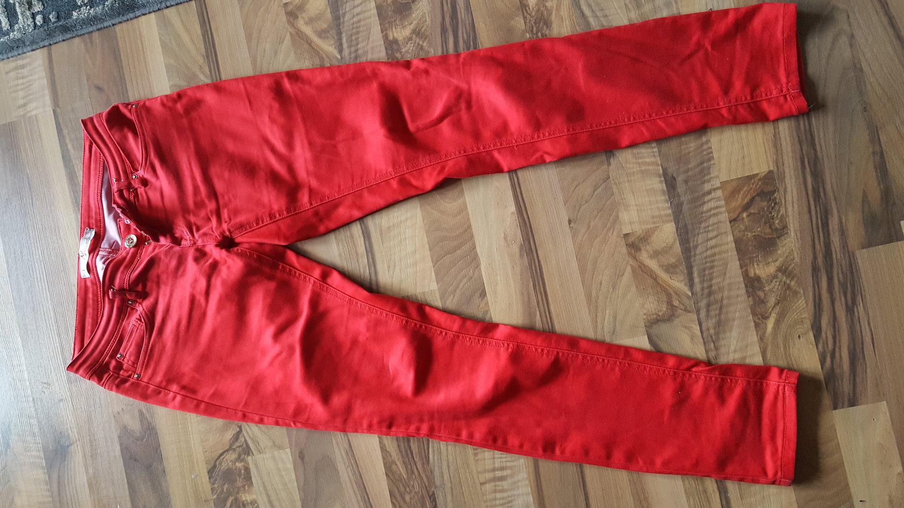 rote hose jeans r hrenhose skinny enge hose stretch. Black Bedroom Furniture Sets. Home Design Ideas