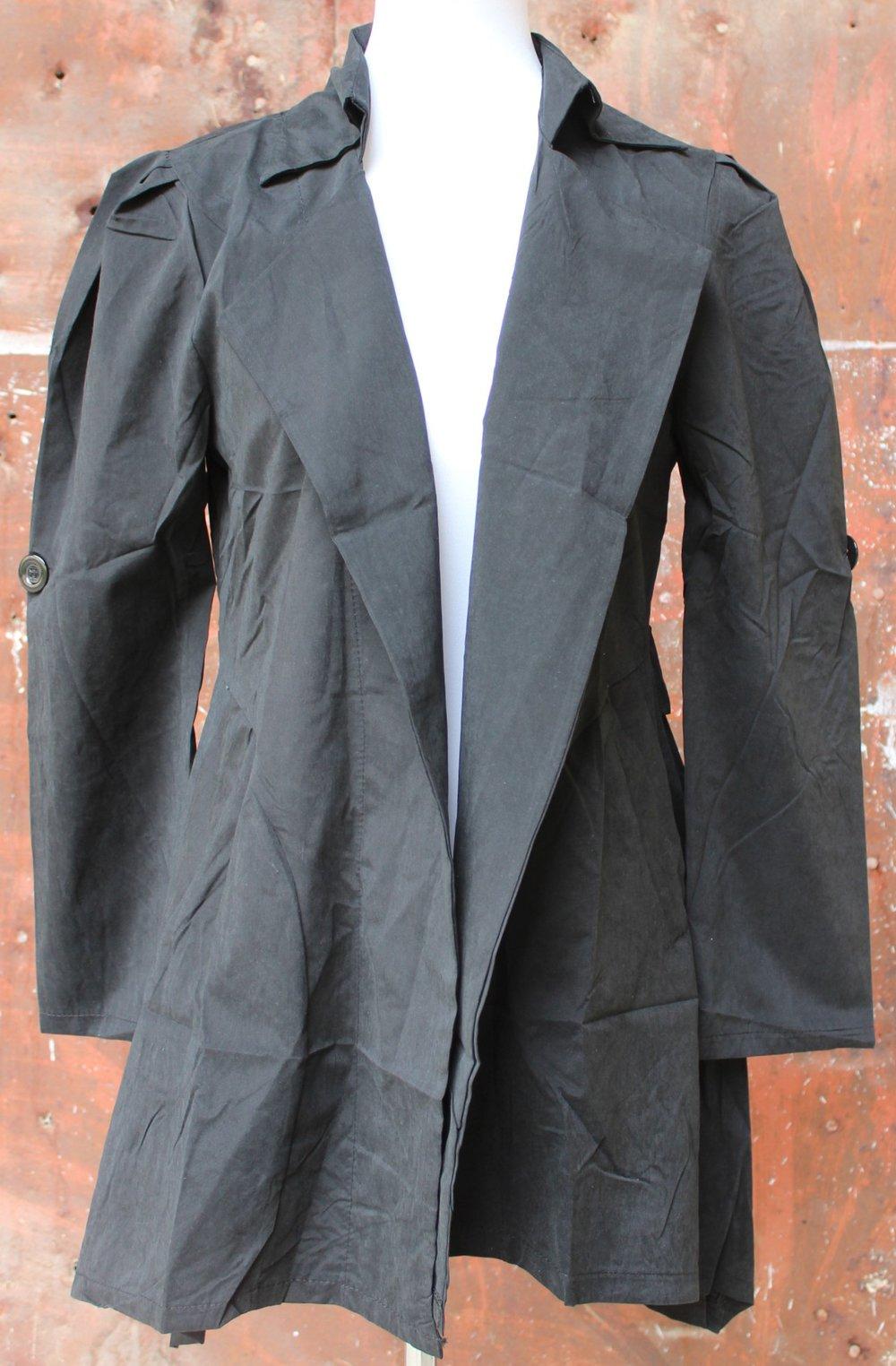 schwarze dünne asymmetrische Jacke, ca. Größe 38-40    Kleiderkorb.de cc5e3a80ee