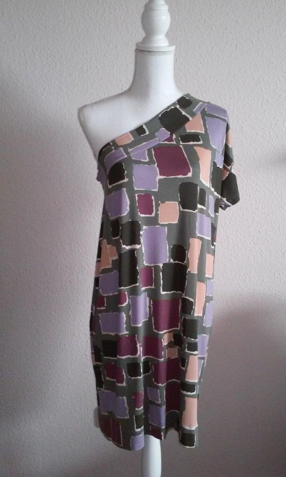 Stile Benetton Kleid Sommerkleid Partykleid Tunika asymmetrisch ...
