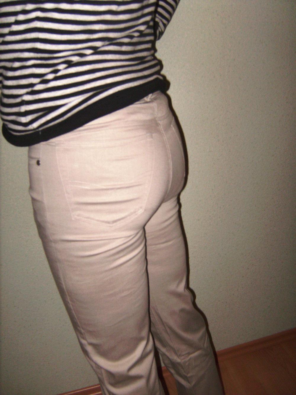 451c5ea88bf69 Hose, Jeans Stretch, Skinny Sandbraun -Taupe Gr. 38, Beinlänge 32er, ...