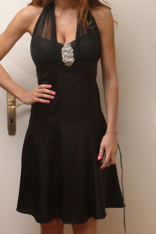 Schwarzes Abendkleid Laura Scott