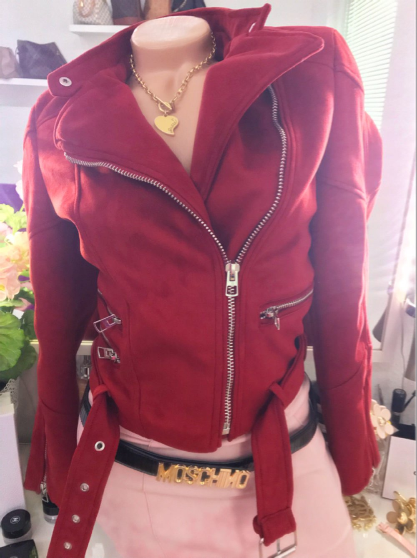 Zara Women -   Zara   Wildleder Jacke   NEU   XS 34 Rot ... ccc8876280
