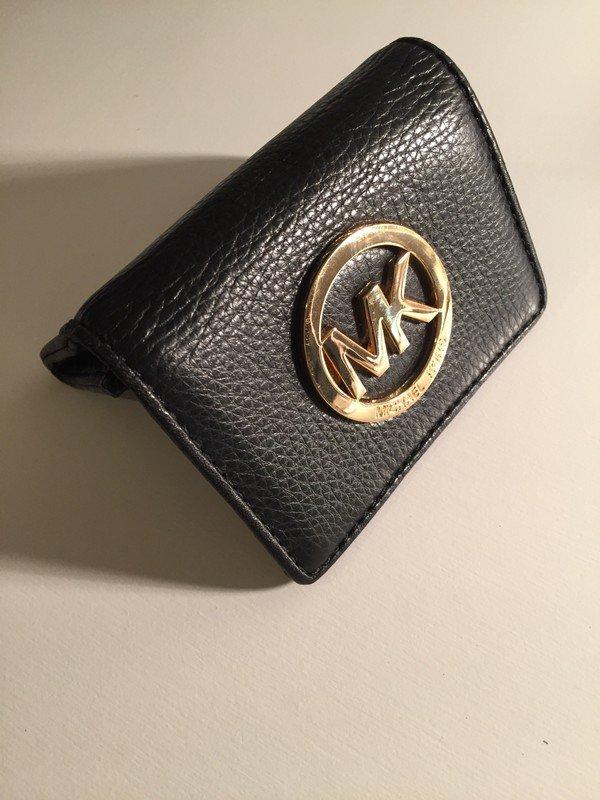 Michael Kors Portemonnaie schwarz gold, neu
