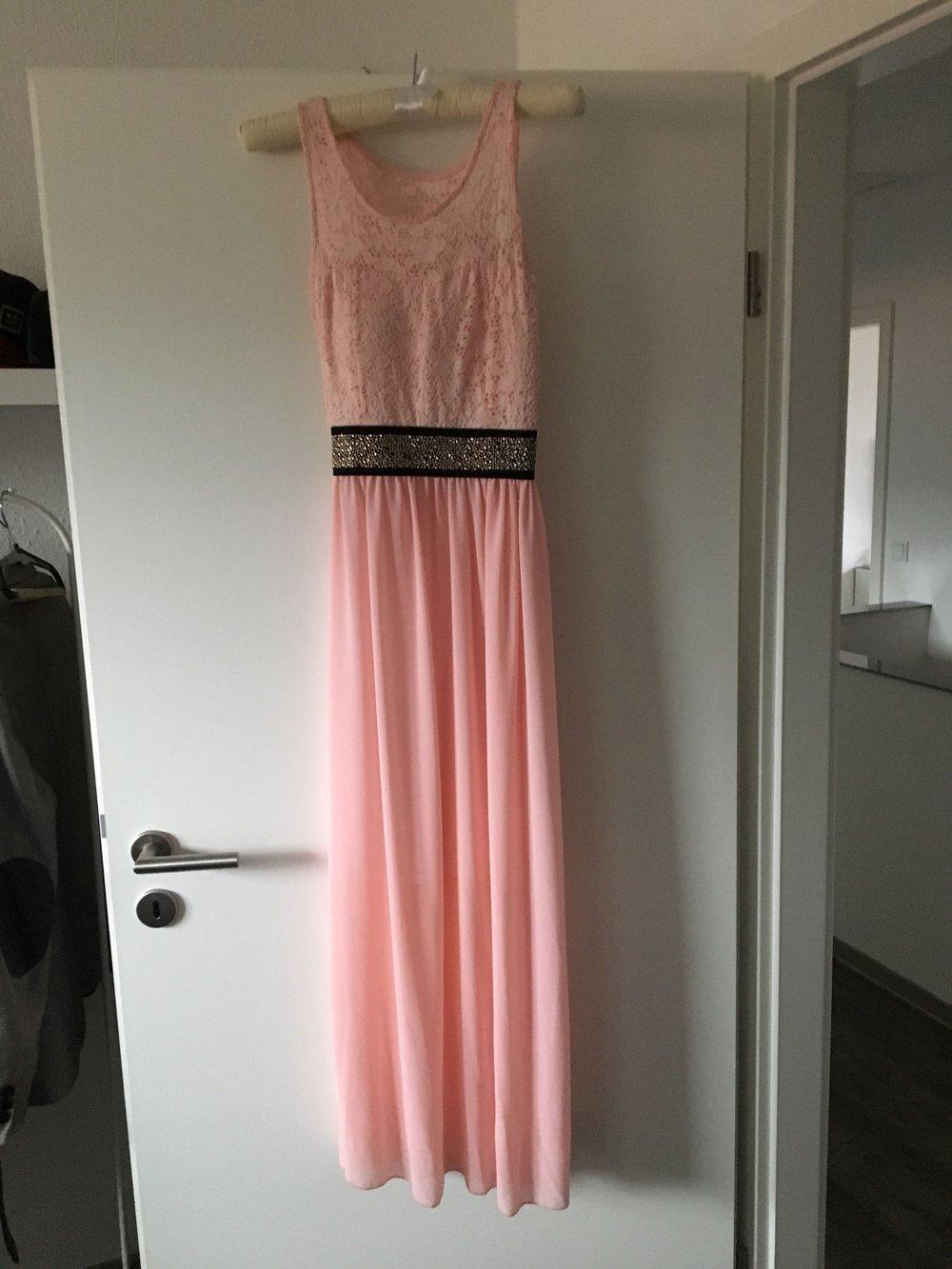 Kleid lachs spitze