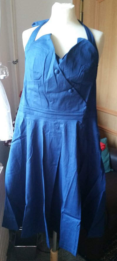 Lindy Bop Kleid 50s 50er Rockabilly Swing Dress Gr 48 Cobaltblau Neu Kleiderkorb De