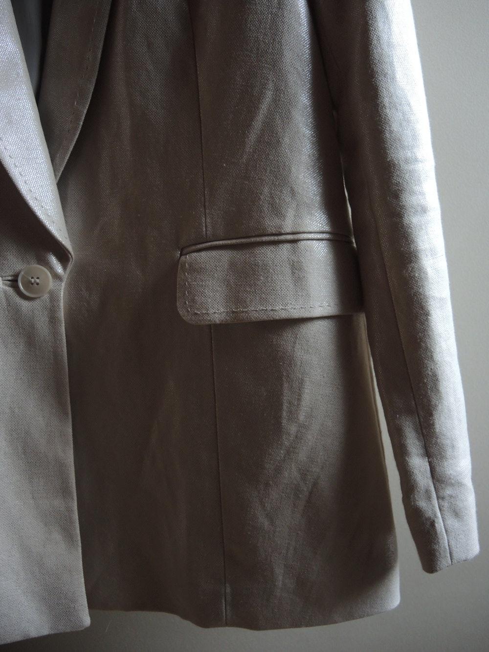 H m trend off white edler blazer aus leinenmix - Hm damenmode ...