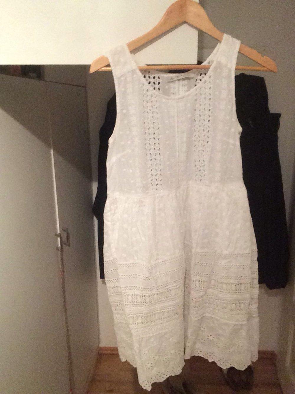 free shipping 8c147 2ed68 Spitze Weißes Sommerkleid Sommerkleid Zara Zara Zara Weißes ...