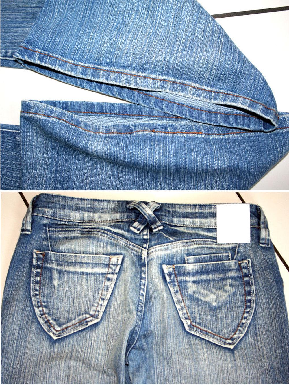 blaue jeans schlaghose gr s l blind date casual mister. Black Bedroom Furniture Sets. Home Design Ideas