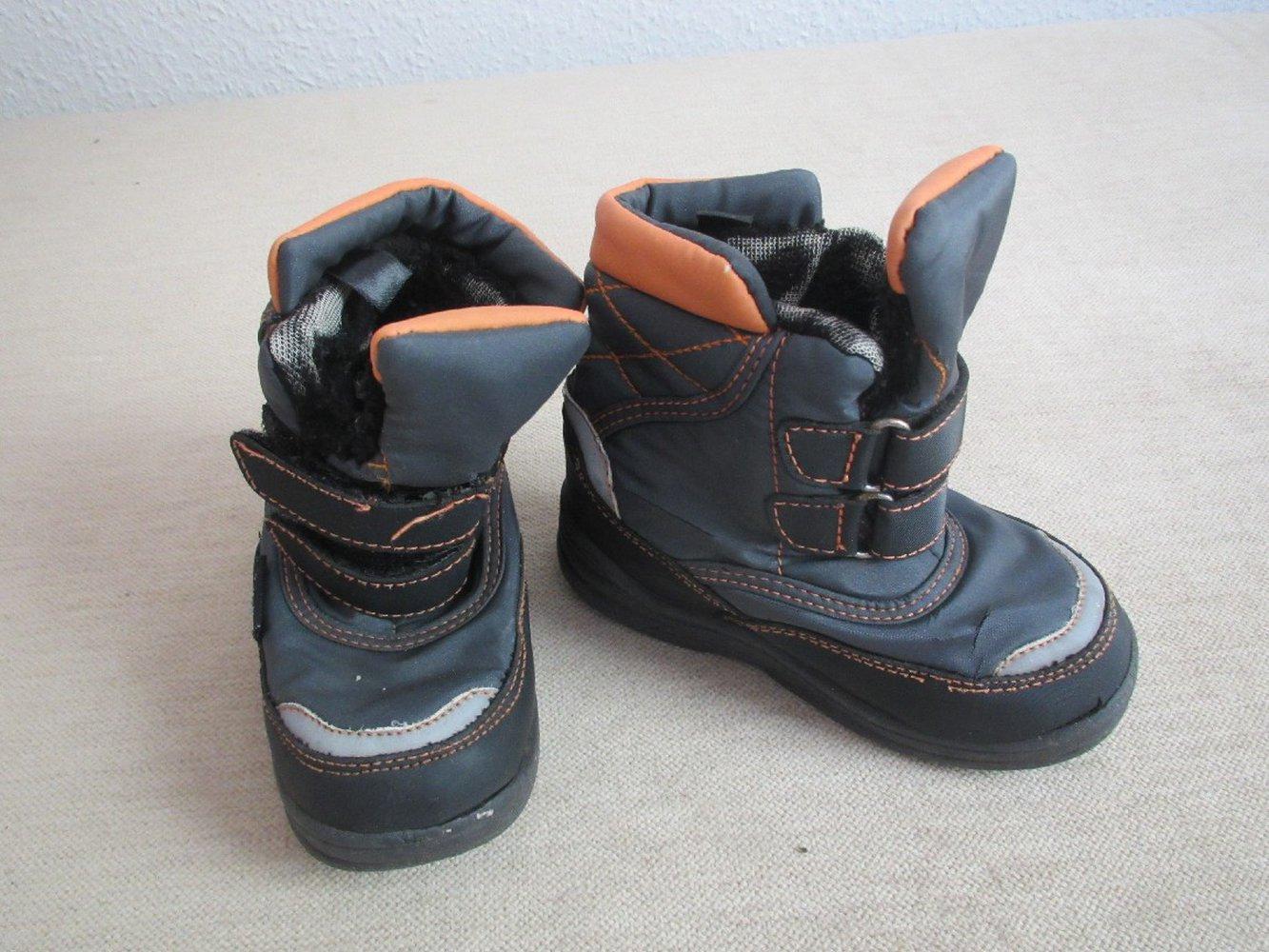 Stiefel Winterstiefel Boots Gr. 27 in grau schwarz von Bobbi Shoes