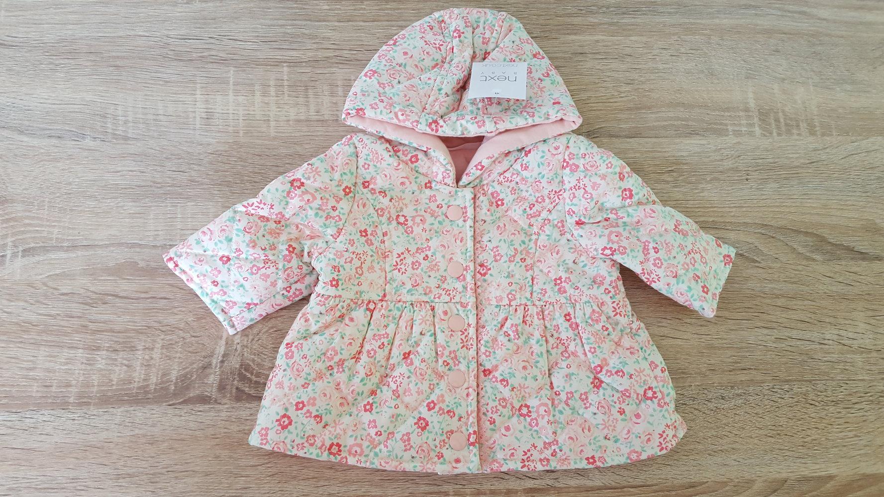size 40 67b31 edb79 Baby Mädchen Jacke/Übergangsjacke mit Mille Fleur Muster gr. 1 Monat/ 56  Next Neu