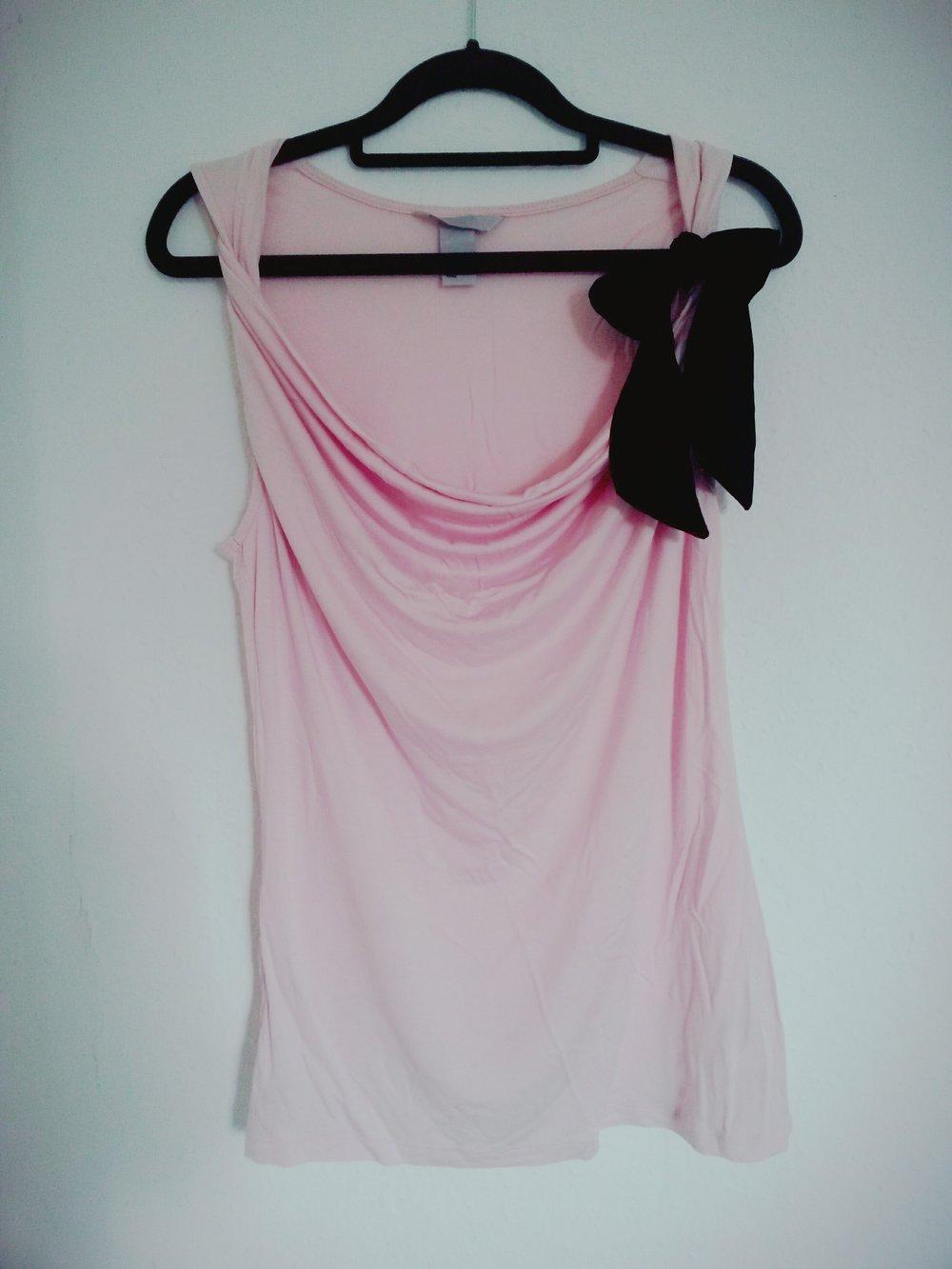 oberteil shirt top t shirt h m rosa rose. Black Bedroom Furniture Sets. Home Design Ideas