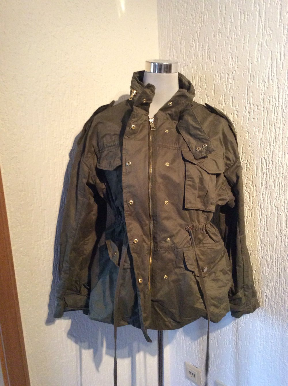 HM - H M Jacke Damen Größe 36 Übergangsjacke neu Khaki Militärstyle ... aa7ff1920c