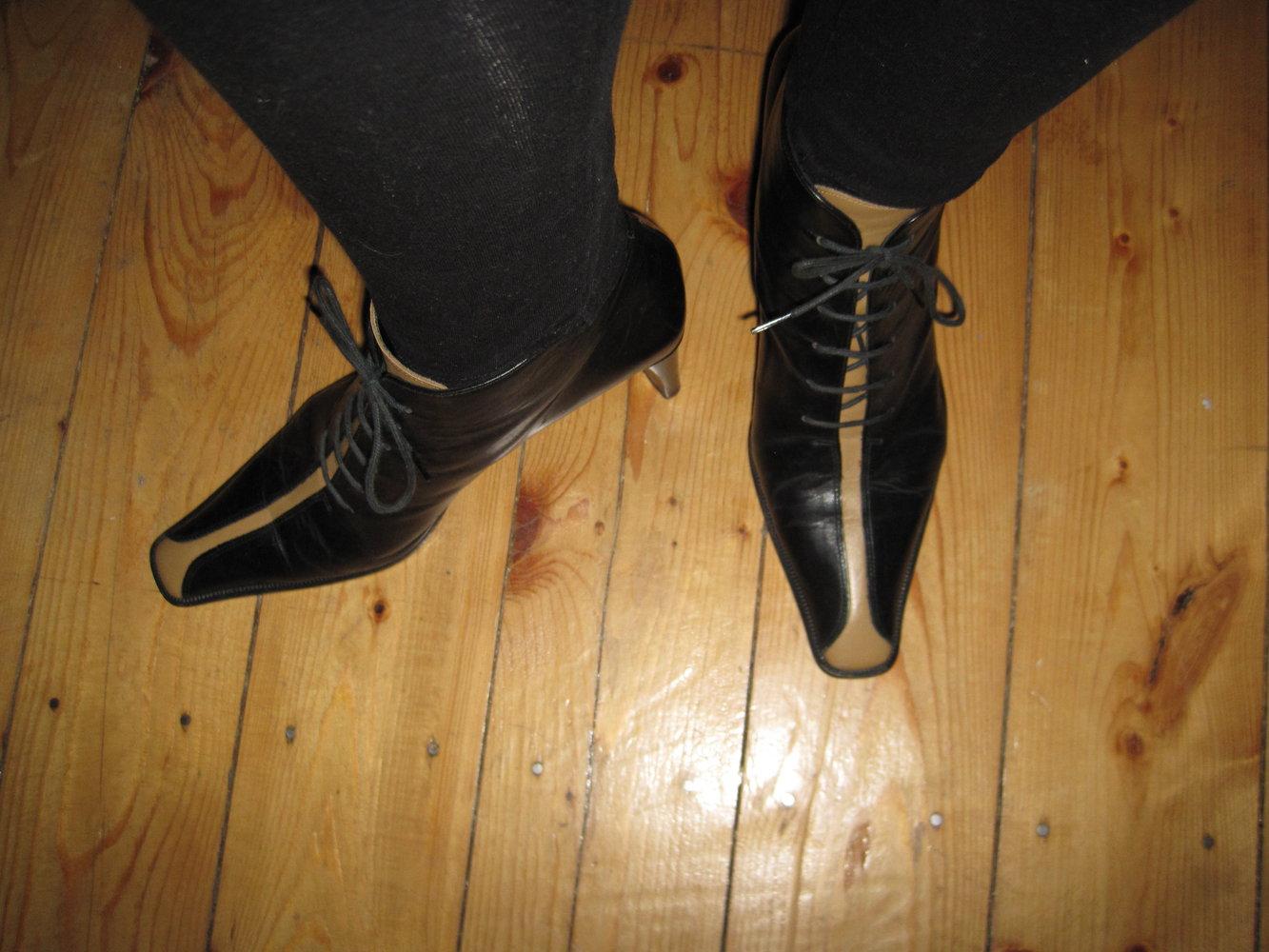 ... Ausgefallene Bernd Berger Leder Ankle Boots Stiefeletten Schnürer  Vintage Hippie 38 . ad04eaab75