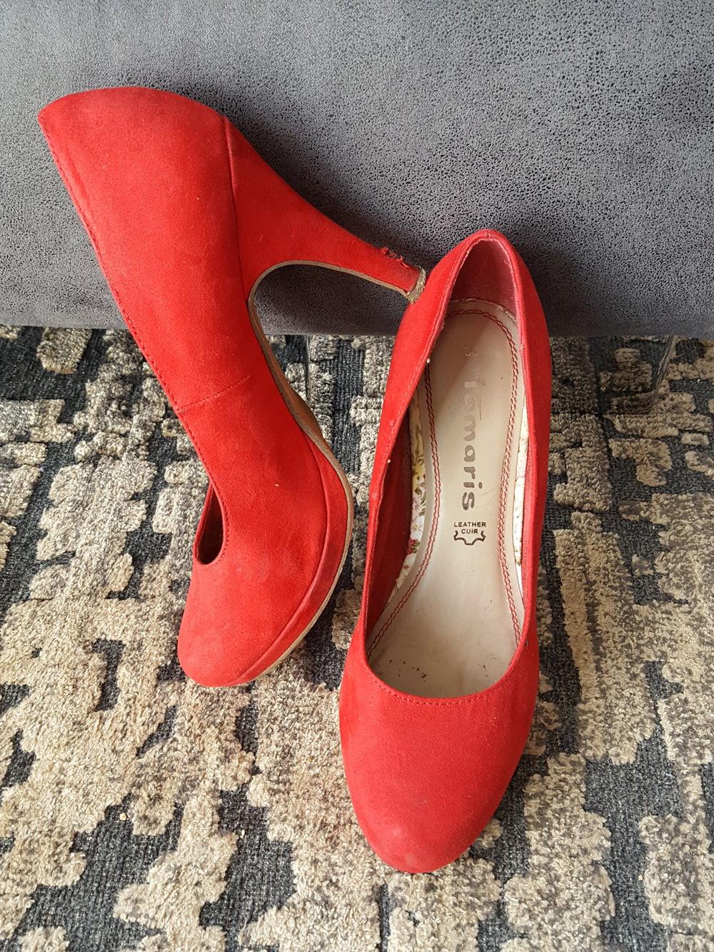 Mode Preis vergleichen heiße Angebote Tamaris, Pumps, Highheels, Plateau, rote Schuhe