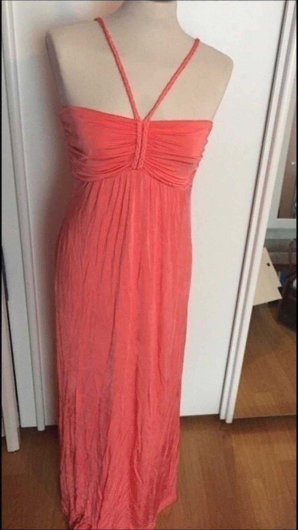 ... Mango korall langes Kleid Hochzeit Abi Abendkleid Gr. L . a37282e14d