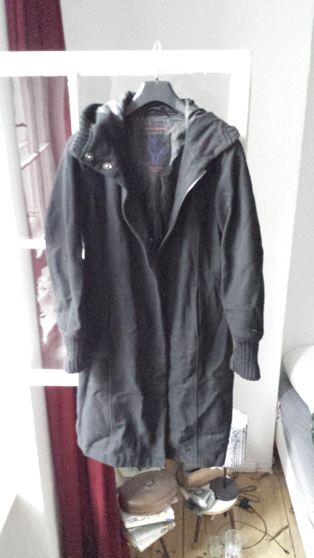 eddy 39 s jacket warmer wintermantel wolle schwarz gr e m 38 40. Black Bedroom Furniture Sets. Home Design Ideas