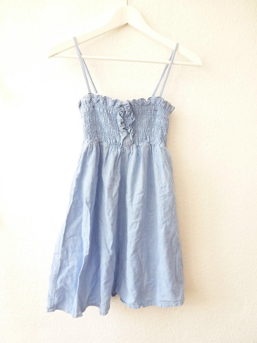 Primark Jeanskleid Jeans Kleid blau Spaghettiträger 34 ...