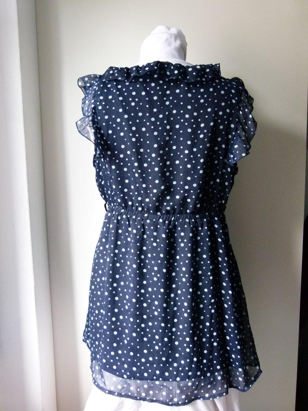 Chiffon-Kleid/Baby Doll mit Rüschen, dunkelblau mit ...