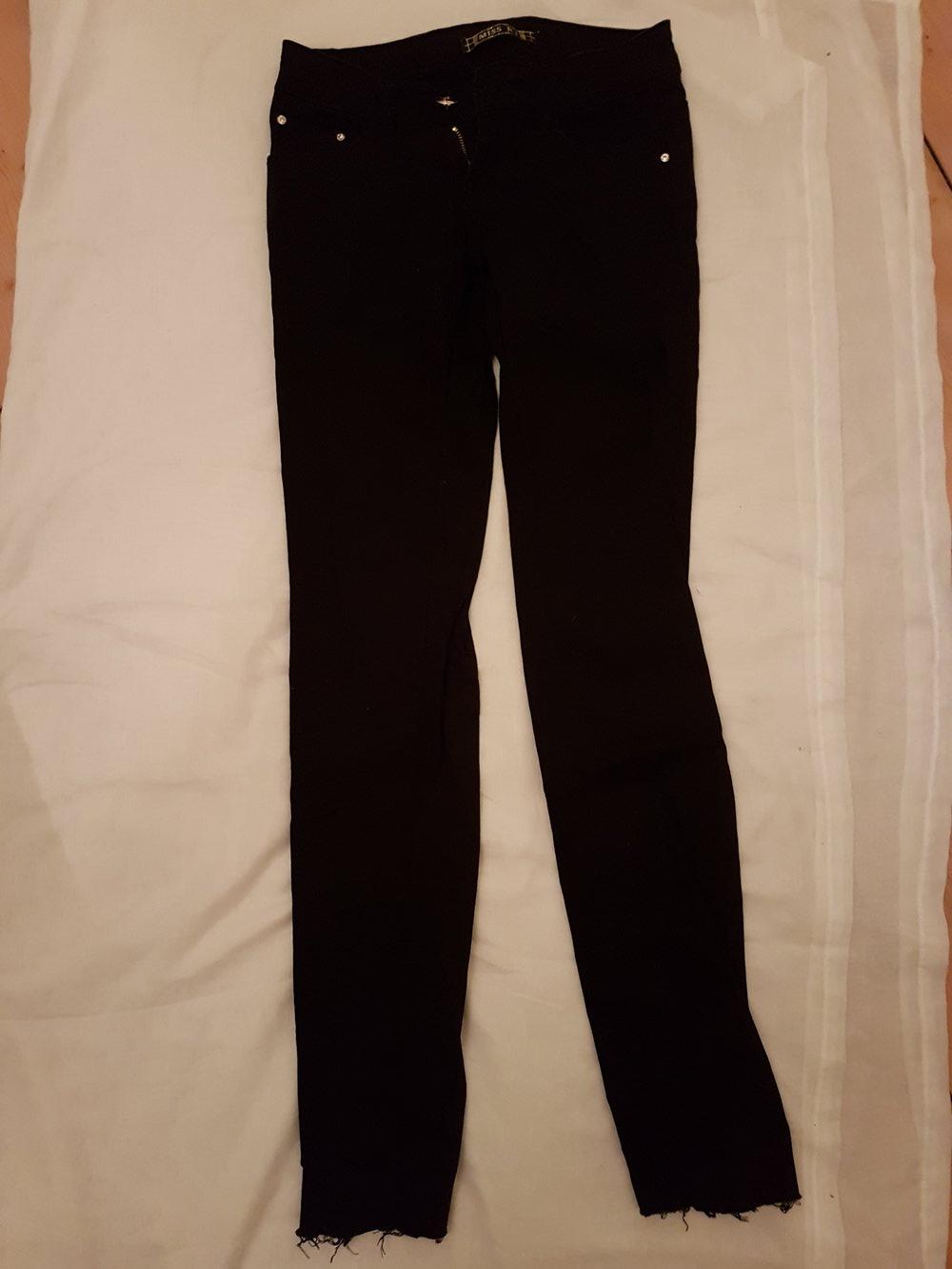 mäßiger Preis konkurrenzfähiger Preis schön billig Schwarze Jeans Hose mit Glitzersteinen