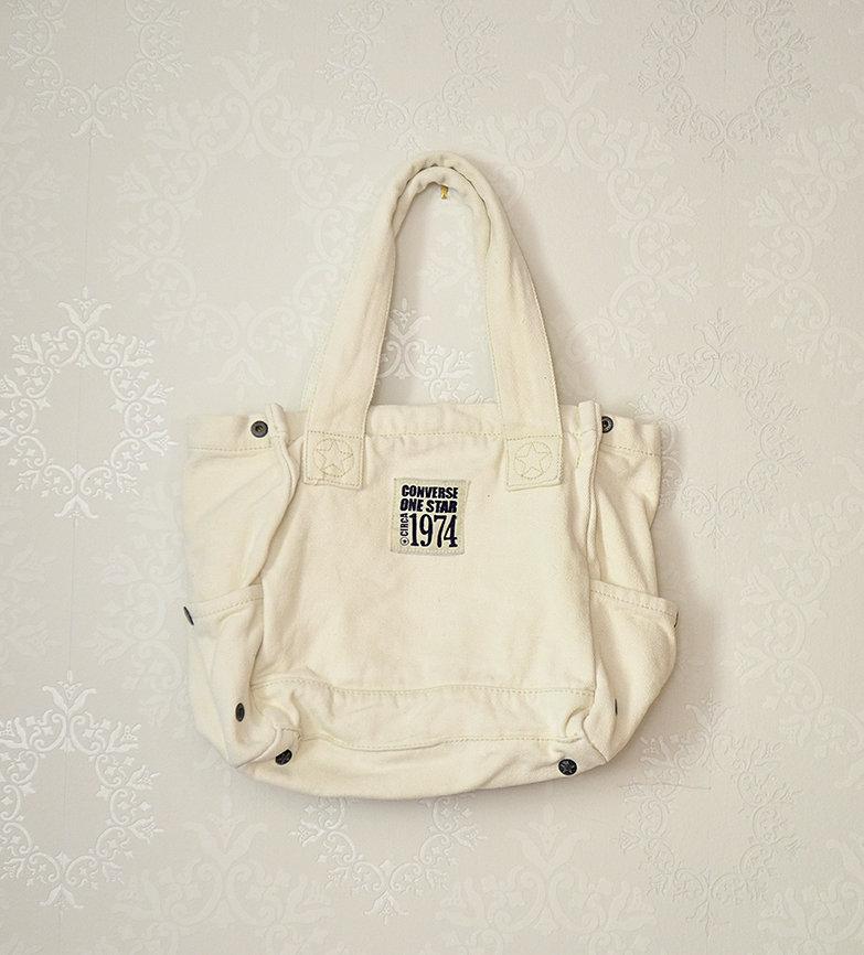 Converse One Star Handtasche Jeanstasche Creme Nude Denim Original USA