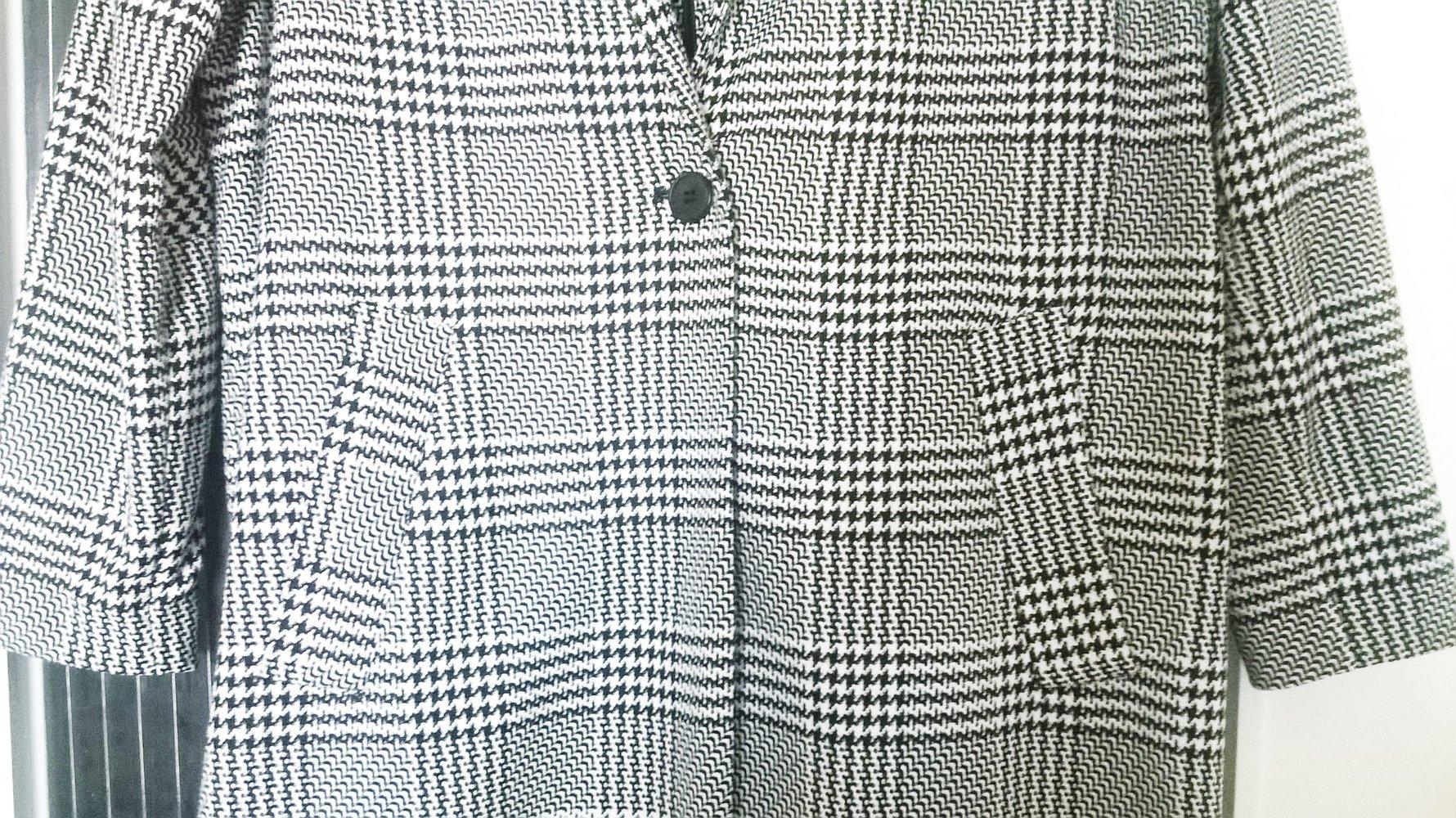cooler mantel mit hahnentritt glencheck muster - Glencheck Muster