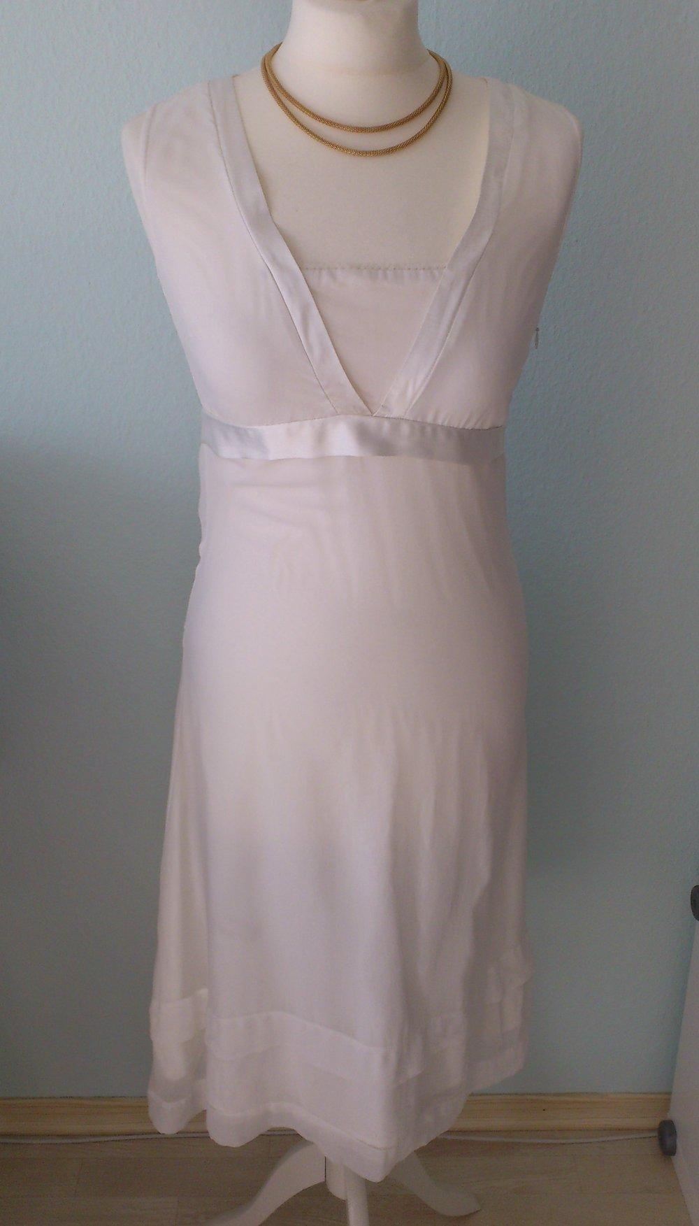 !! Festliches weißes Kleid 13 S Schleife Spitze Konfirmation