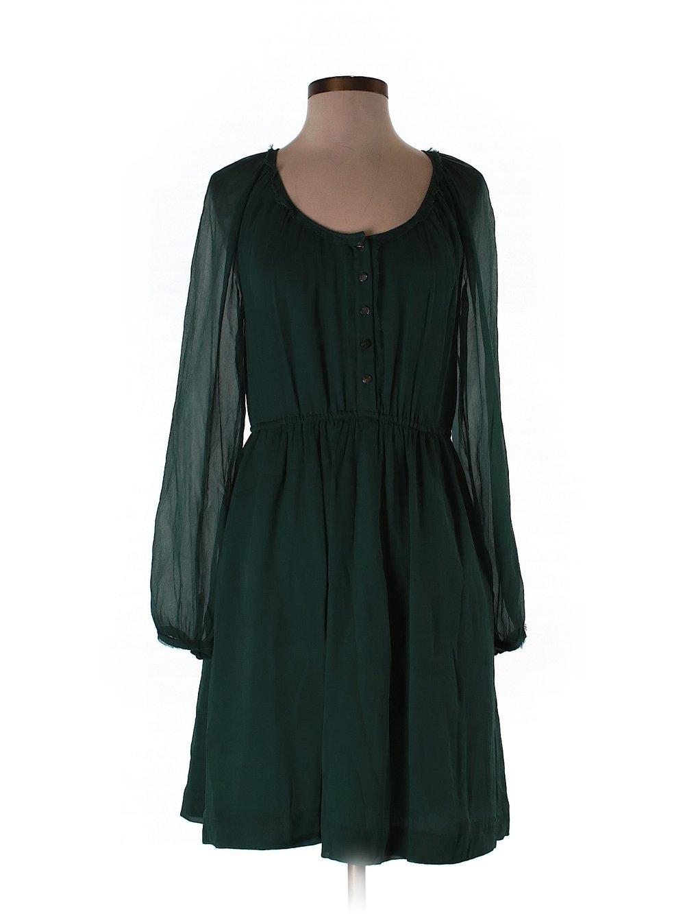 Eliot - Grünes Seiden-Kleid :: Kleiderkorb.de