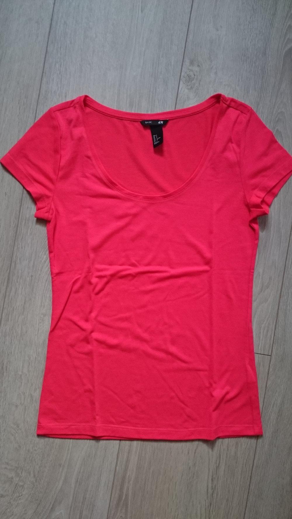 2234ae428ebbf2 H M - pinkes Basic T-Shirt    Kleiderkorb.de