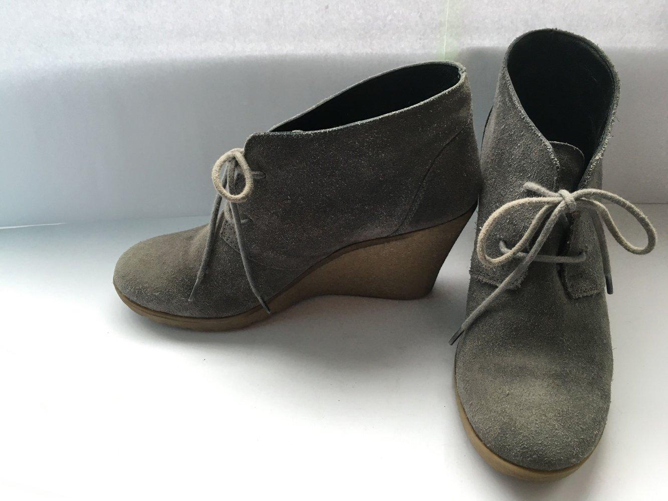 Görtz 38 Grau Wildleder Boots Stiefeletten 38