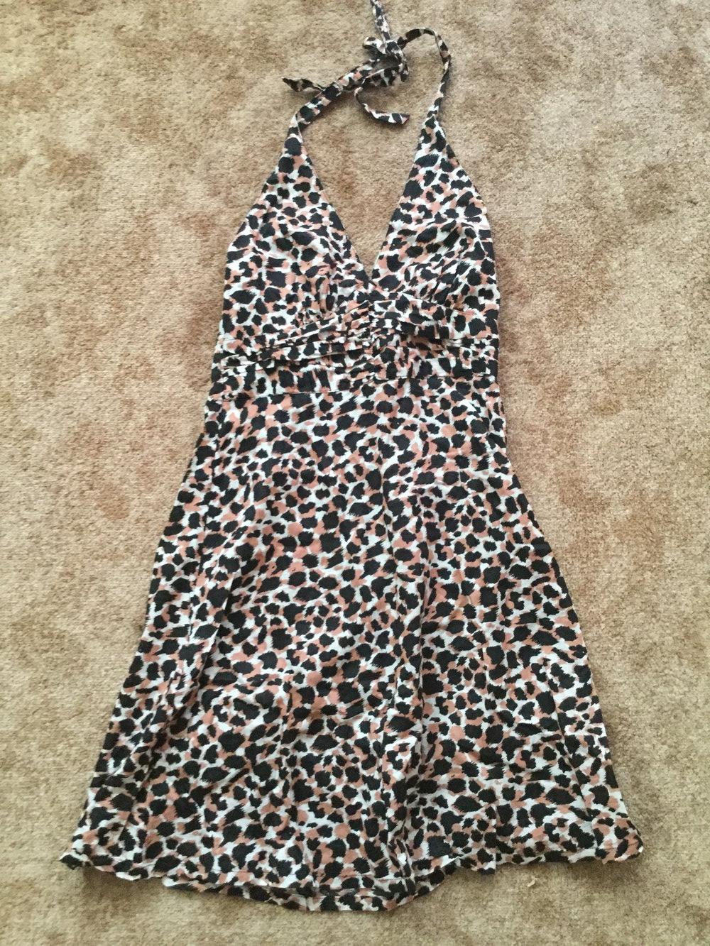 Neckholder Kleid, Strandkleid, kurz, leo, neckholder, H&M S/17