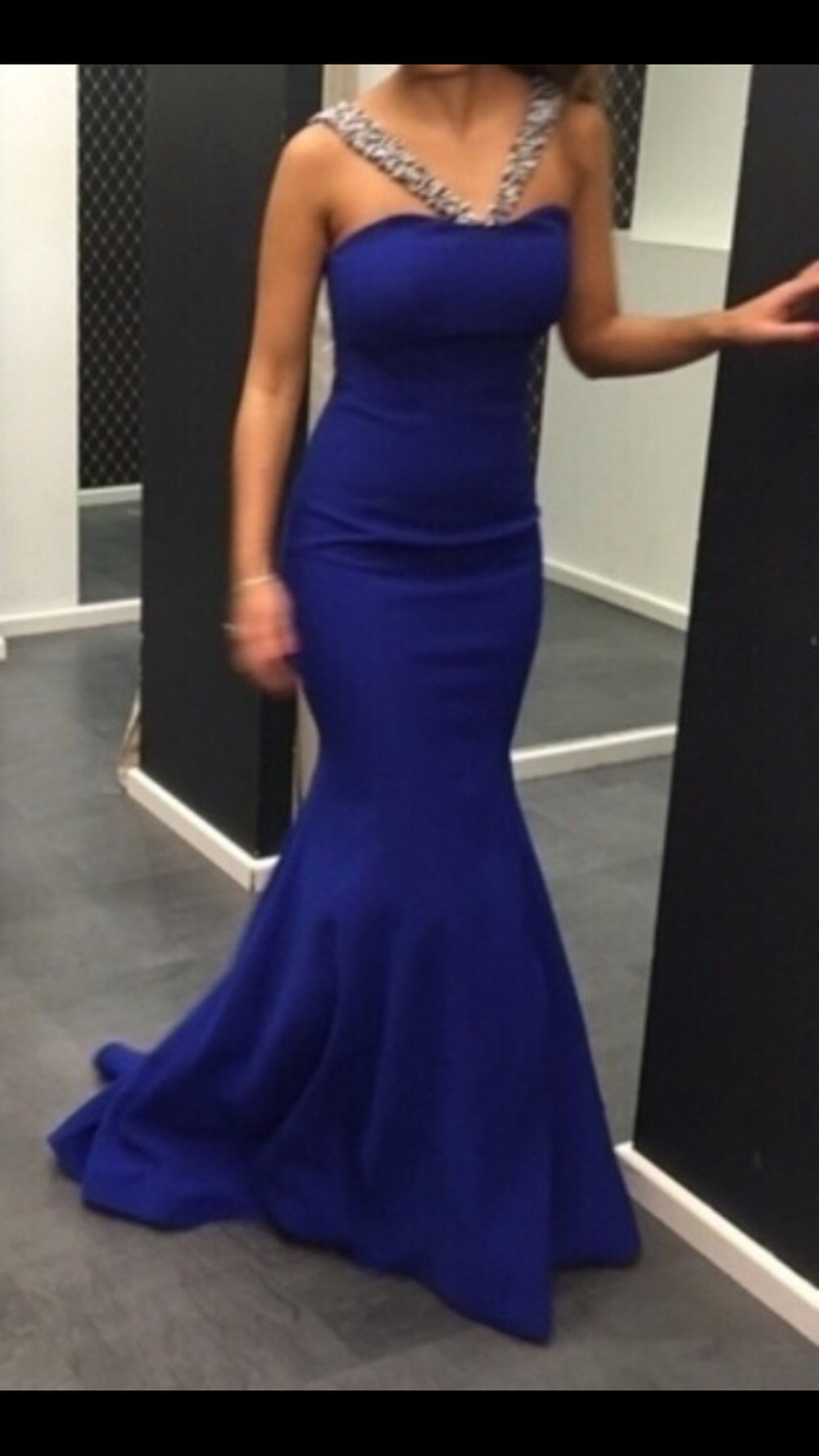 Blaues Abendkleid, Größe 12