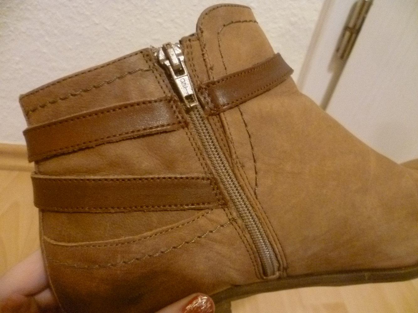 Braune Stiefeletten von 5th Avenue, Deichmann, echtes Leder, Ankle Boots, Winter, Herbst, Blogger