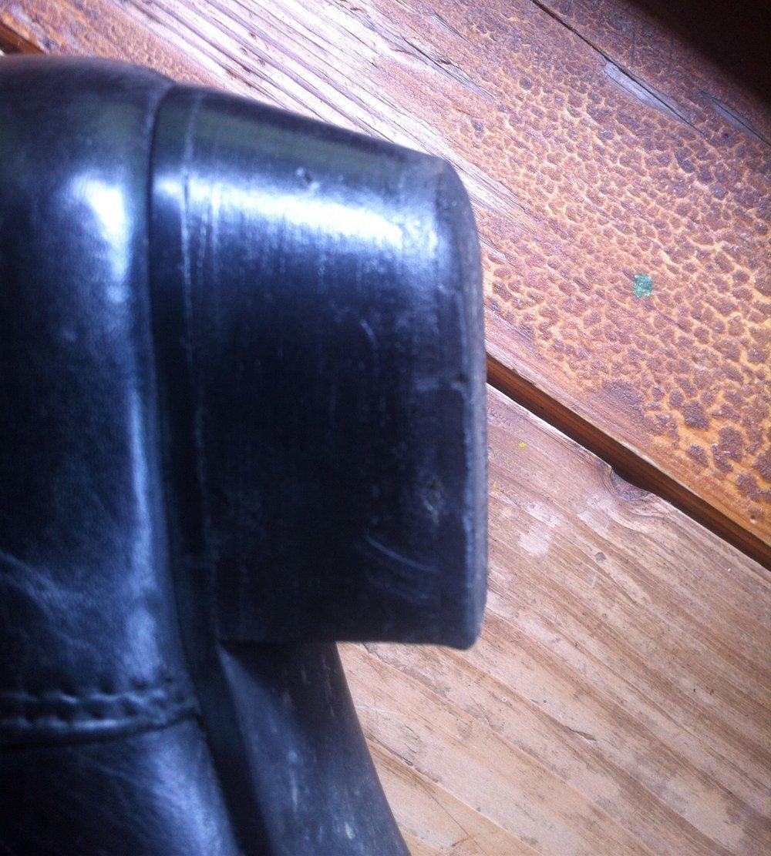 schn rstiefel schwarz vintage absatz gef ttert warm leder. Black Bedroom Furniture Sets. Home Design Ideas
