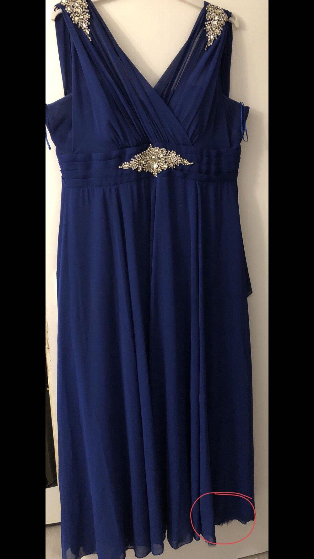Royalblaues Abendkleid mit Steine