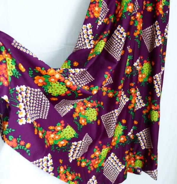 true vintage  70er jahre abendkleid sommerkleid violett