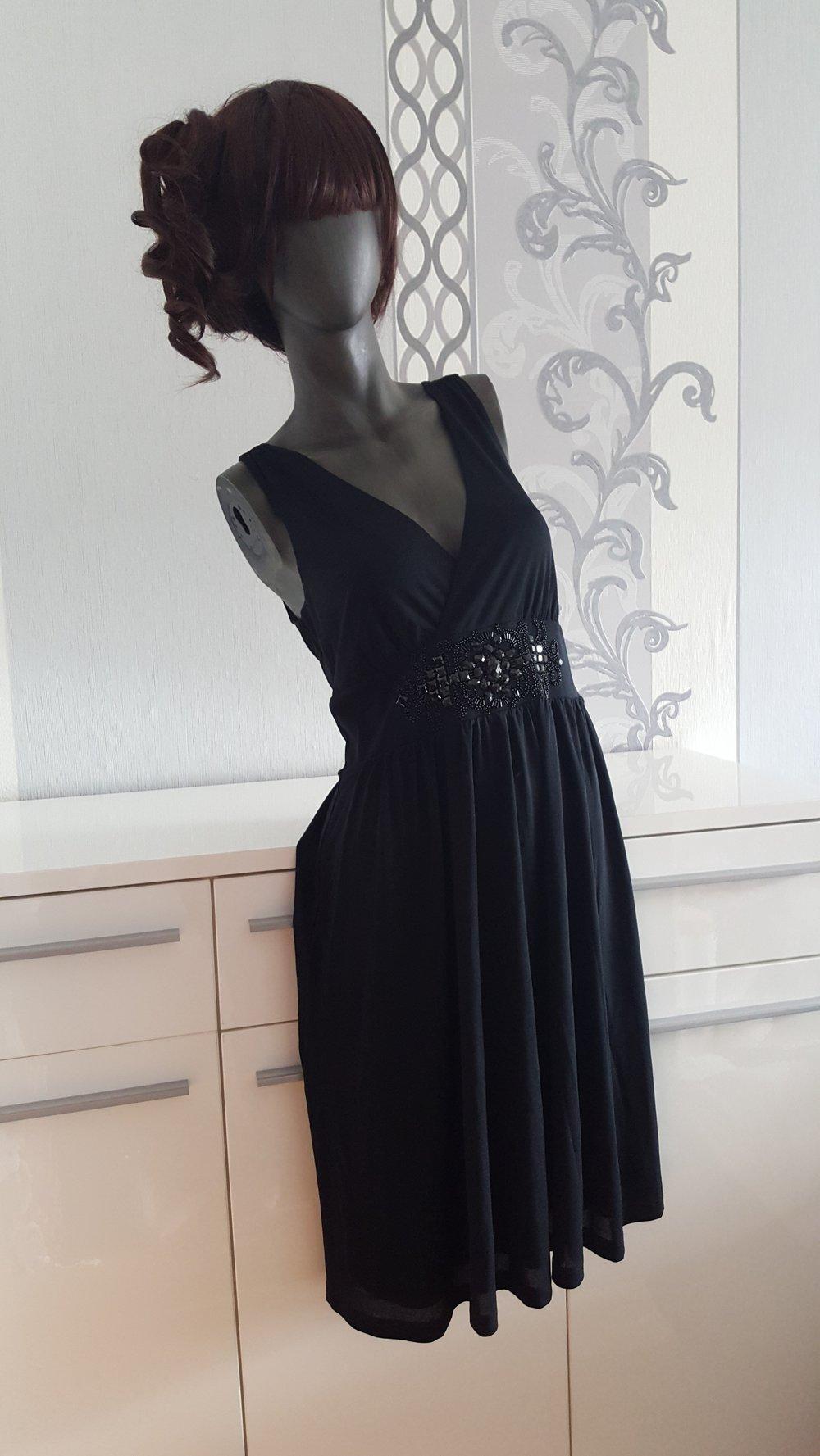 Elegantes schwarzes Esprit Kleid Hochzeit besondere Anlässe 11 11 L XL  evtl. 11 da dehnbar