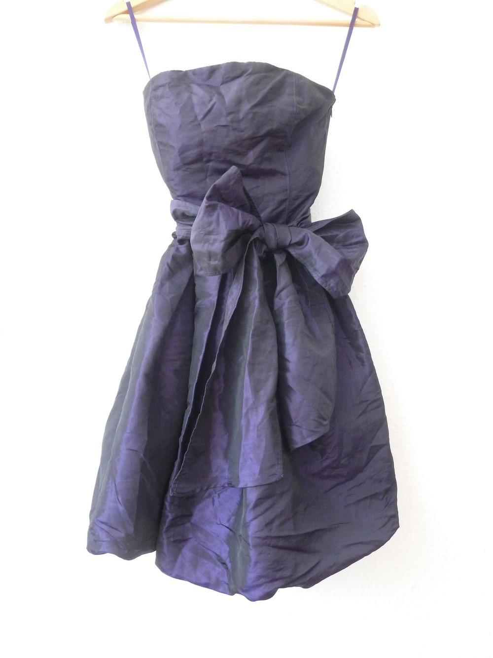bandeau kleid abiball abschluss jugendweihe festlich lila glänzend p&c 36