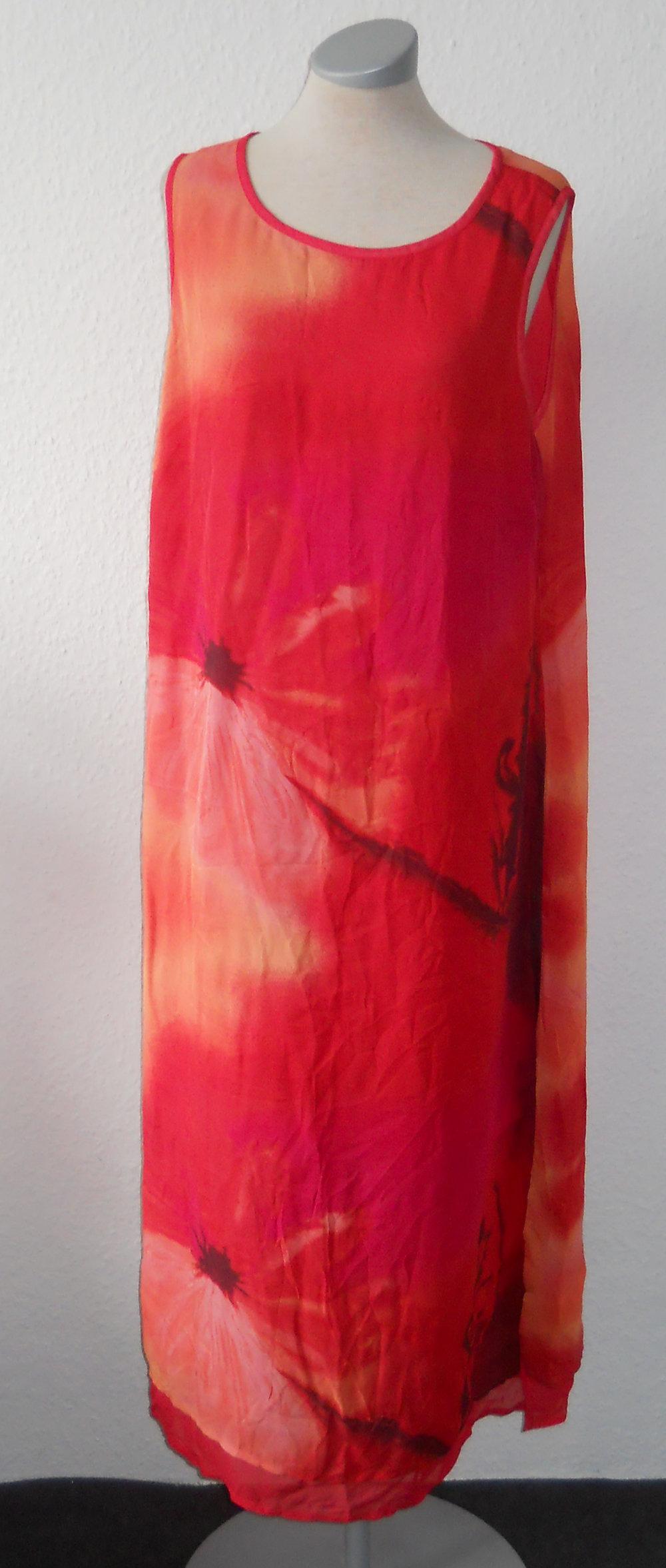 etuikleid lang rot orange gr 44 46 kleid maxikleid. Black Bedroom Furniture Sets. Home Design Ideas