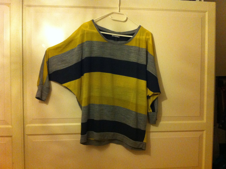 pretty nice 6ba9c 09c19 ONLY Shirt Pulli Pullover Fledermäuse Flügel M 38 40 gelb schwarz grau  gestreift