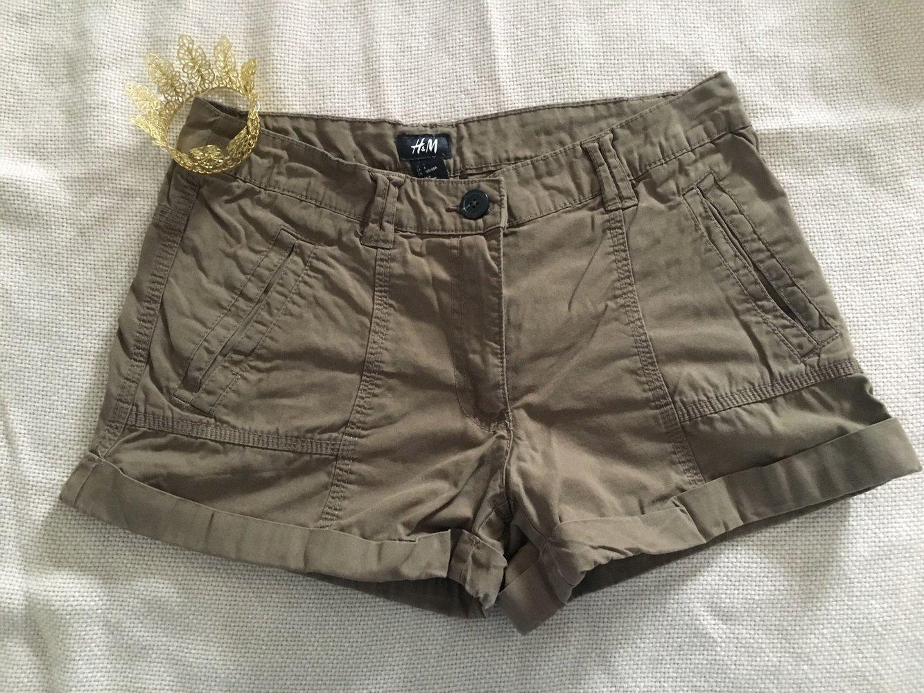 Shorts Khaki Kurze 36HotpantsGrünTarnfarbenDunkelgrünHose In Kurze wkPOn0