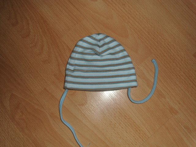 38 cm KU Mütze  Rot Weiß 56 62 Baby Mützchen Érstlingsmütze Baumwolle NEU 36