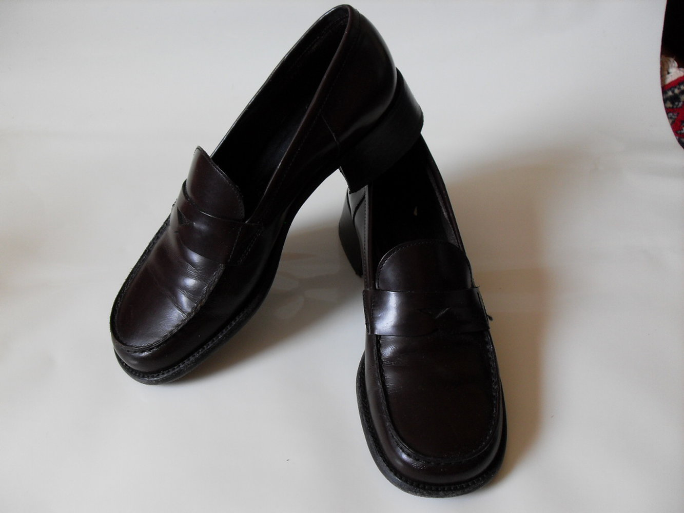 prada luxus made in italy schuhe pumps gr 36 5 original brown shoes. Black Bedroom Furniture Sets. Home Design Ideas