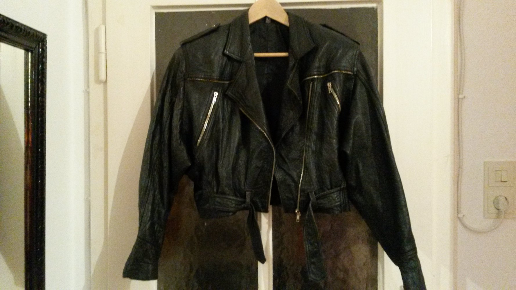 original vintage biker lederjacke 80er. Black Bedroom Furniture Sets. Home Design Ideas