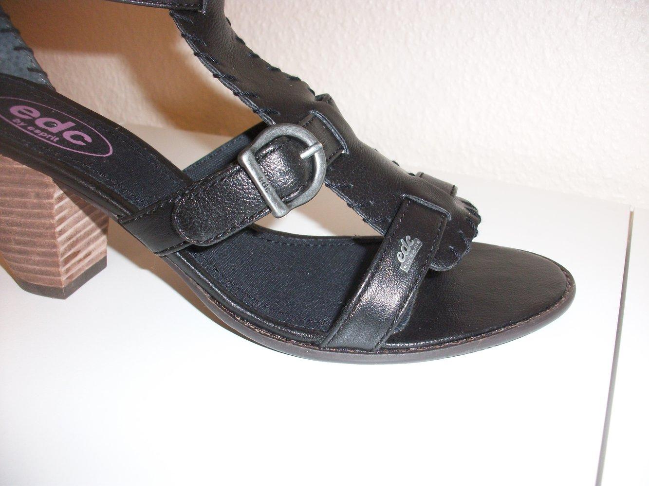 Unbenutzte Esprit Gladiator Pumps Sandalen schwarz Gr. 38, wie neu! #Esprit #Sandaletten