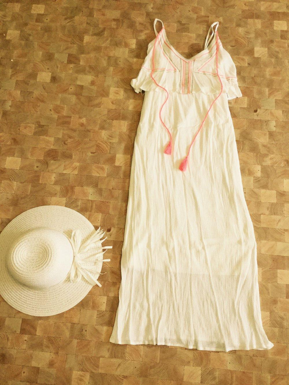 maxikleid weiß ibiza style