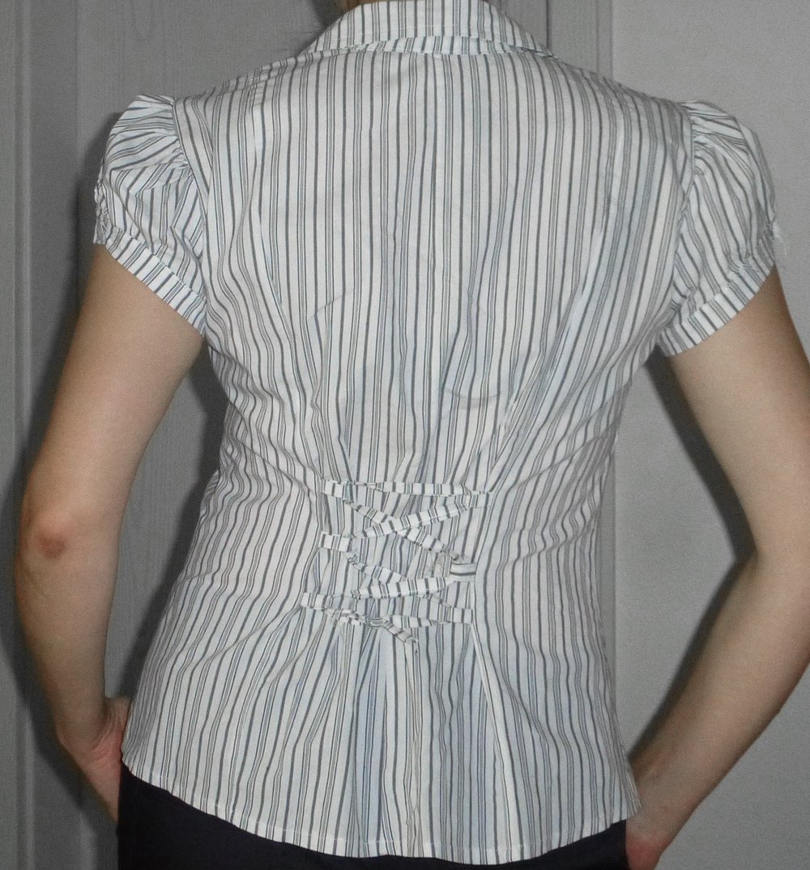 43334bd1e8da Neue Damen Bluse elegant festlich kurzärmlig gestreift Gr. 40 42 ...