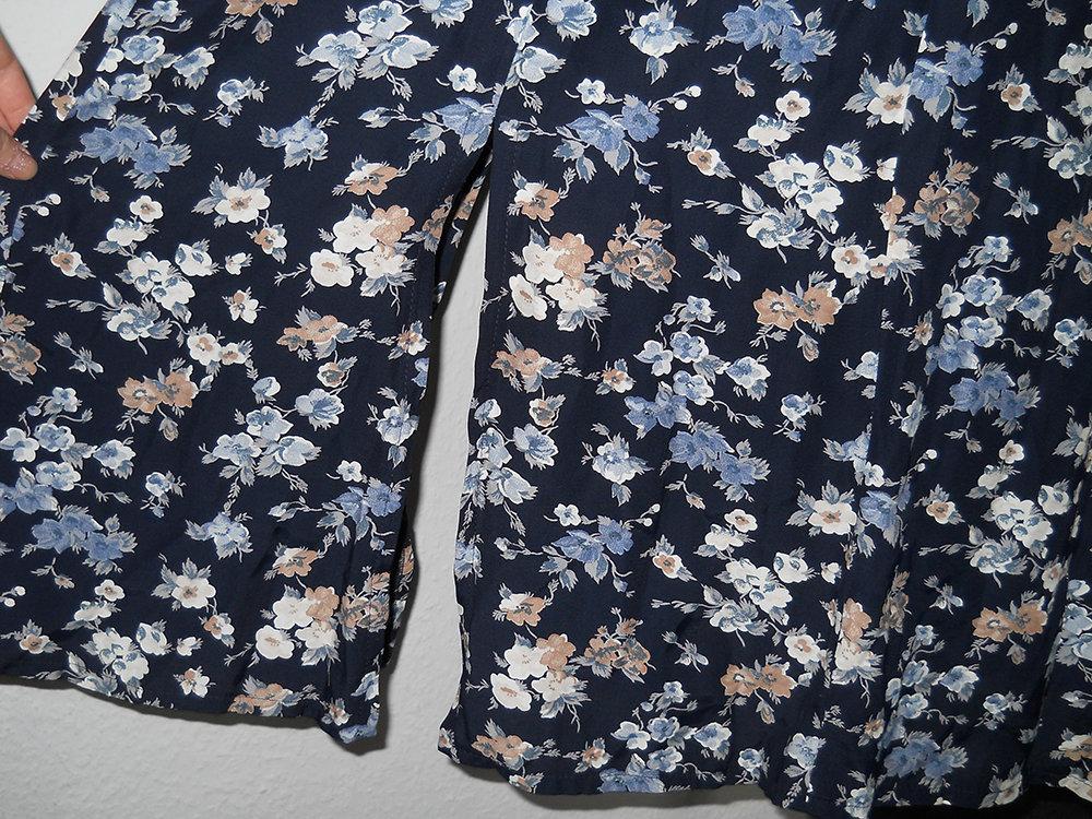 La Rochelle Vintage retro Kleid blau Blumen Gr. 36 S ...